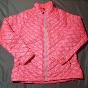 The north face bubble jacket size xl pink